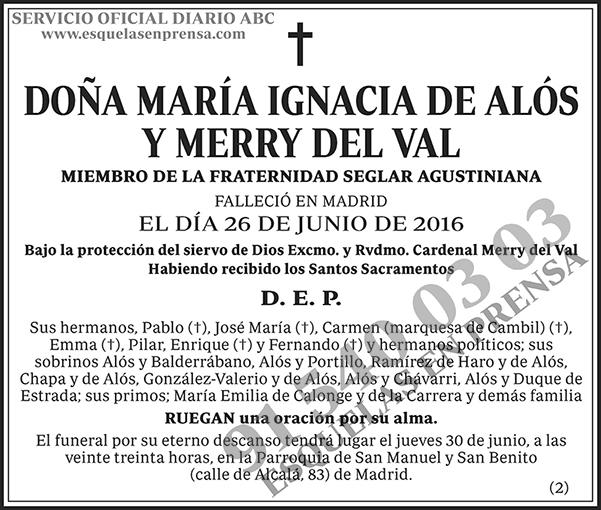 María Ignacia de Alós y Merry del Val